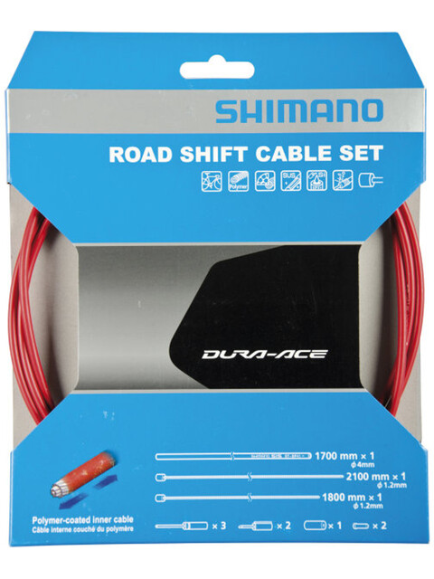 Shimano Polymer Road schakelkabel rood